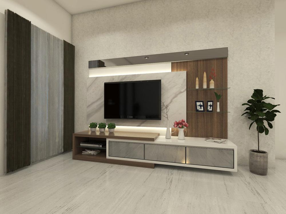 tv-meubel dat industrieel is